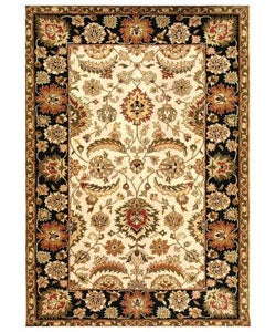 Hand-tufted Black Wool Rug (5 x 8)