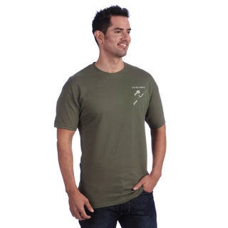 It's All About Fishing Men's Green T-shirt
