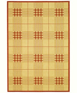 Safavieh Indoor/ Outdoor Regal Natural/ Terracotta Rug (5'3 x 7'7)