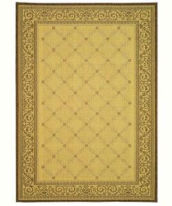 Safavieh Indoor/ Outdoor Bay Natural/ Brown Rug (5'3 x 7'7)