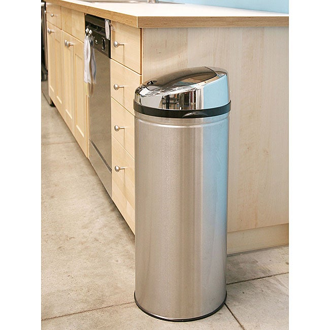 iTouchless 13 gallon Steel Touchless Trash Can Overstock