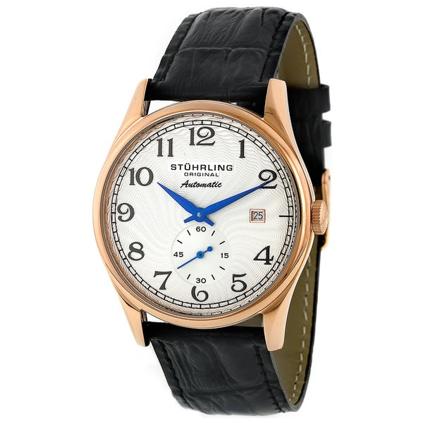Stuhrling Original Cuvette Unisex 16K Rose Gold Plated Stainless Steel Thin Case Watch