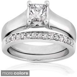 Annello 14k Gold 3/4ct TDW Diamond Bridal Ring Set (G-H, I1)
