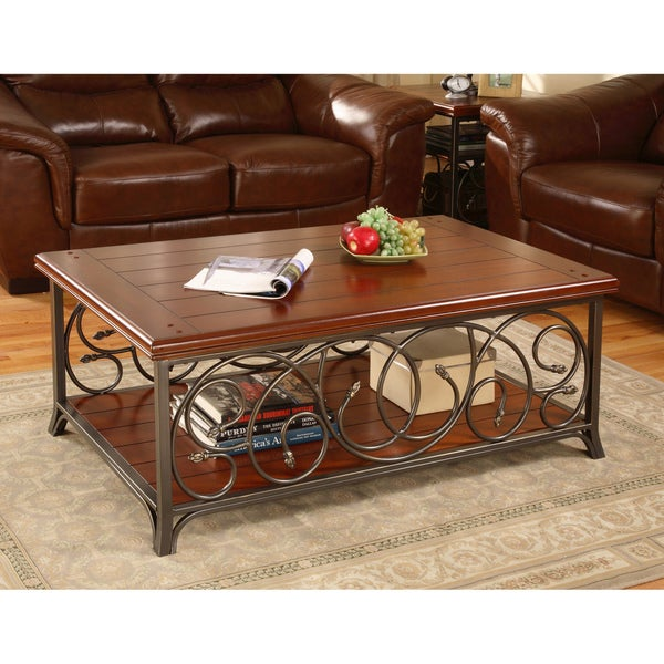 Scrolled Metal and Wood Coffee Table 8a3c01d6 5457 4272 a4d6 6fd9e909cef0 600 Scrolled Metal And Wood Coffee Table