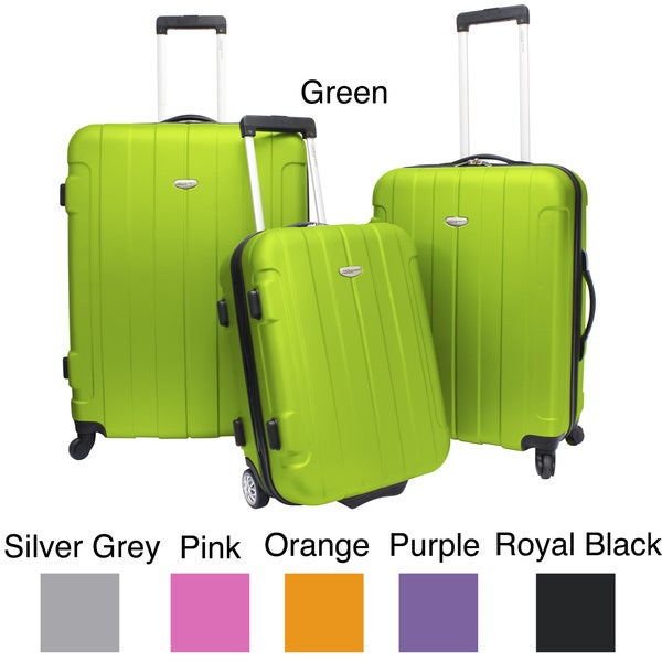 Traveler's Choice Rome 3-piece Hardside Spinner Luggage Set