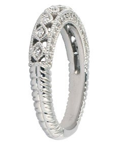 14k White Gold 1/2ct TDW Diamond Antique Ring (I-J, I1-I2)