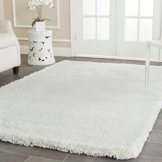 Safavieh Plush Super Dense Hand-woven Honey White Premium Shag Rug (7'6 x 9'6)