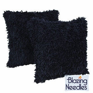 Shag Chenille 18-inch Pillows (Set of 2)