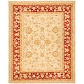 Safavieh Handmade Ancestry Ivory/ Red Wool Rug (8' x 10')