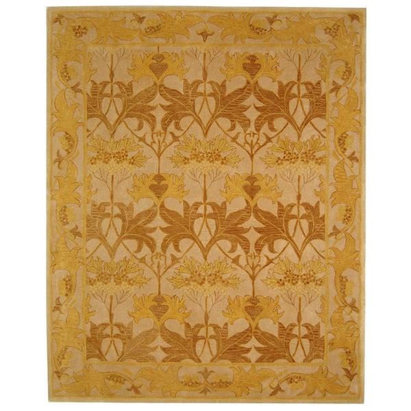Safavieh Handmade Anatolia Nomadic Beige/ Gold Wool Rug (6' x 9')