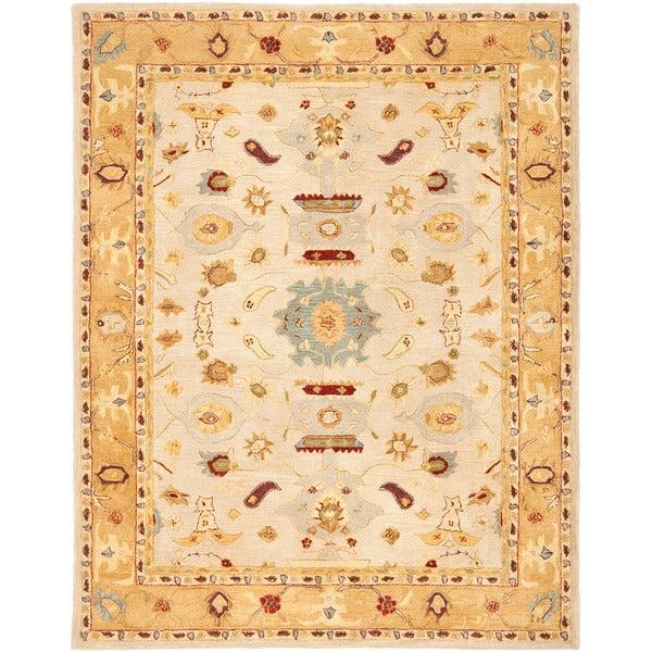 Safavieh Handmade Tribal Ivory/ Gold Wool Rug (6' x 9')