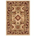 Handmade Heirloom Ivory Wool Rug (2' x 3')