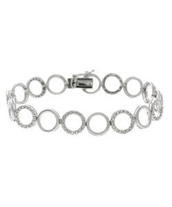 DB Designs Sterling Silver Diamond Accent Circle Bracelet