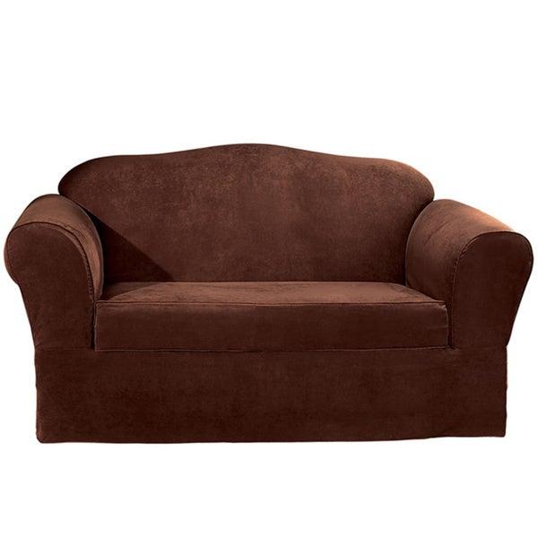 Sure Fit Suede Supreme Washable Sofa Slipcover
