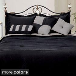 Microfiber Reversible 4-piece Comforter Set