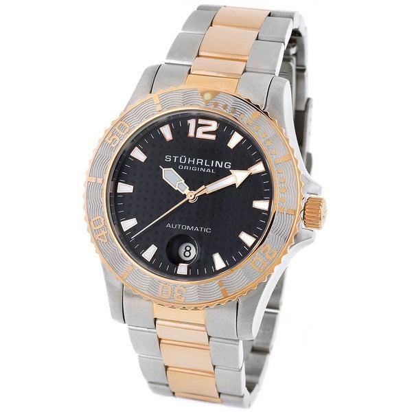 Stuhrling Original 'Reggata' Men's Diving Automatic Watch