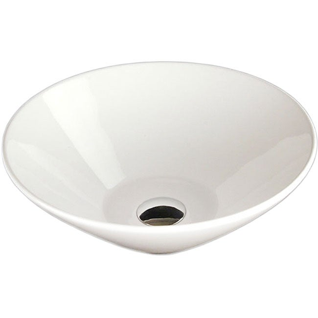 Fontaine Mini Round Porcelain Vessel Sink