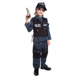 Deluxe Children's S.W.A.T. Police Officer Costume