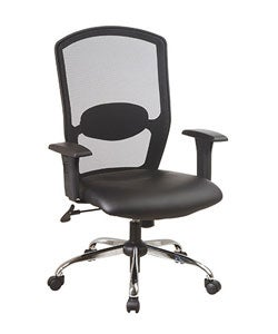 Office Star Screen Back Vinyl Leather Executive Chair