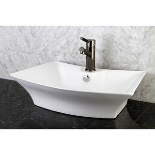 Sonata White China Vessel Lavatory Sink