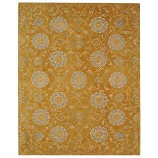 Safavieh Handmade Medallions Gold Wool Rug (9'6 x 13'6)
