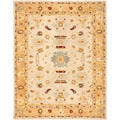 Safavieh Handmade Tribal Ivory/ Gold Wool Rug (9' x 12')