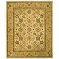 Handmade Heirloom Ivory/ Gold Wool Rug (9&#39; x 12&#39;)