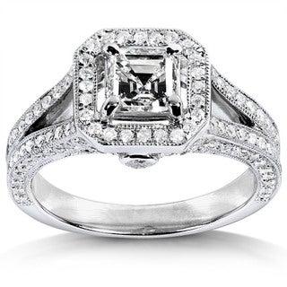 Annello 14k White Gold 1 1/3ct TDW Diamond Engagement Ring (H-I, SI1)