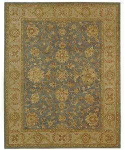 Safavieh Handmade Antiquities Jewel Grey Blue/ Beige Wool Rug (7'6 x 9'6)