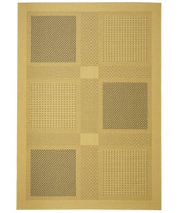 Safavieh Indoor/ Outdoor Lakeview Natural/ Blue Rug (4' x 5'7)