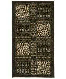 Safavieh Indoor/ Outdoor Lakeview Black/ Sand Rug (2' x 3'7)