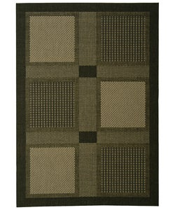 Safavieh Indoor/ Outdoor Lakeview Black/ Sand Rug (4' x 5'7)