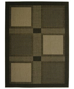 Safavieh Indoor/ Outdoor Lakeview Black/ Sand Rug (7'10 x 11')