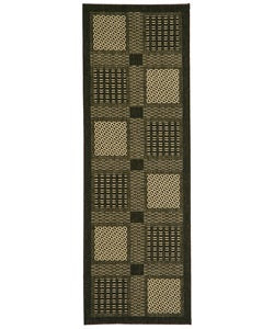 Safavieh Indoor/ Outdoor Lakeview Black/ Sand Runner (2' 4x 6'7)