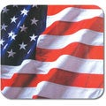 United States Flag Soft Fabric and Natural Rubber-backed Mouse Pad