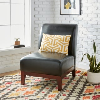 Cole Black Leather Chair