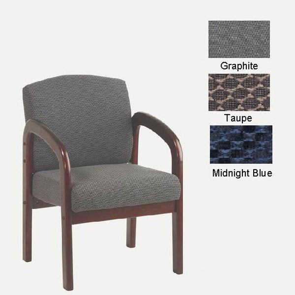 Office Star Mahogany Finish Visitors Chair