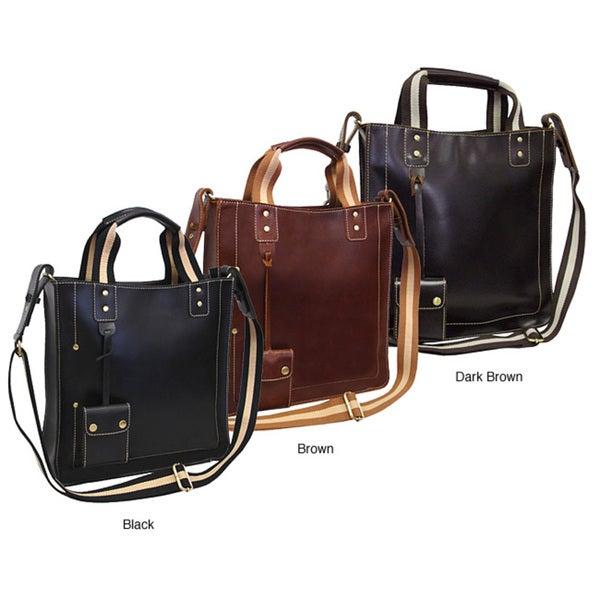 Amerileather Legacy Leather Magazine Tote Bag