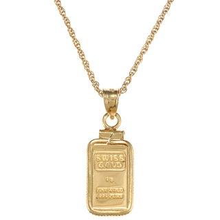 American Coin Treasures 1-gram Gold Ingot Pendant Necklace