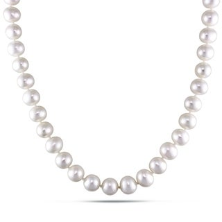 M by Miadora Cultured Freshwater Pearl Necklace with Silver Clasp (8-9 mm)