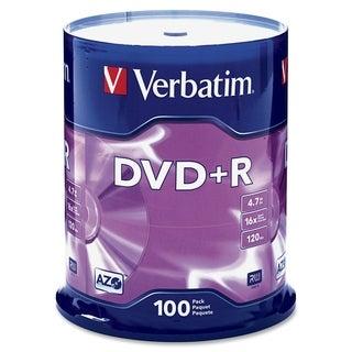 Verbatim 95098 DVD Recordable Media - DVD+R - 16x - 4.70 GB - 100 Pac