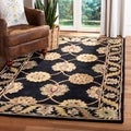 Handmade Heritage Mahal Black Wool Rug (9&#39;6 x 13&#39;6)