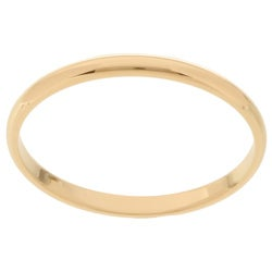14k Gold Men's Half-round 2-mm Wedding Band