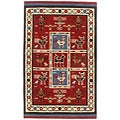 Hand-tufted Elite Tribal Wool Saffron Rug (4' x 6')