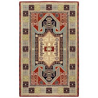 Handmade Elite Traditional Geometric Wool Rug (8' x 11')