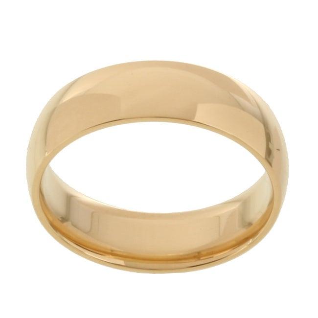 10k Yellow Gold Women's Comfort Fit 6-mm Wedding Band