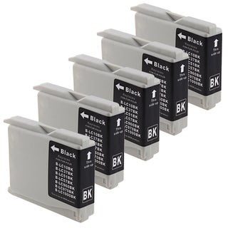 INSTEN Brother Compatible LC-51 Black Ink Cartridges (5 Pack)