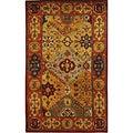 Safavieh Handmade Heritage Diamond Bakhtiari Multi/ Red Wool Rug (4' x 6')