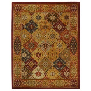 Safavieh Handmade Heritage Diamond Bakhtiari Multi/ Red Wool Rug (5' x 8')
