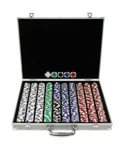 1000 Piece Texas Hold'em Poker Chip Set